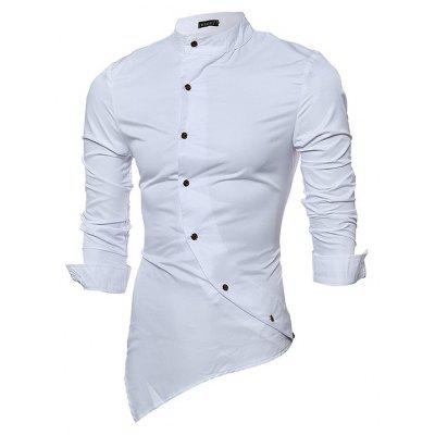 Buy WHITE 2XL Male Fashion Classical Long Sleeve Shirt for $19.75 in GearBest store