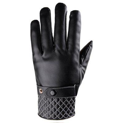 Winter PU Leather Cycling Touchscreen Luvas - Estilo 2