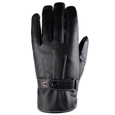 Winter PU Leather Cycling Touchscreen Luvas - Estilo 1