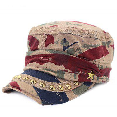 QingFang Rivets Star Pattern Unique Cotton Baseball Hat for Women