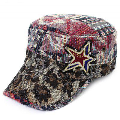 QingFang Crystal Embedded Female Joint Flat Baseball Hat