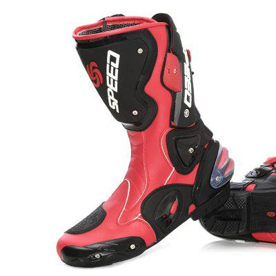 PROBIKER B1001 Long Protective Motorcycle Racing BootsOther  Motorcycle Accessories<br>PROBIKER B1001 Long Protective Motorcycle Racing Boots<br><br>Accessories type: Motorcycle Shoes<br>Available Size: US8.5 - 13<br>Boot Height: Mid-Calf<br>Gender: Men<br>Package Contents: 1 x Pair of Boots<br>Package size (L x W x H): 55.00 x 50.00 x 13.00 cm / 21.65 x 19.69 x 5.12 inches<br>Package weight: 2.3000 kg<br>Product weight: 2.2000 kg<br>Size: US10.5