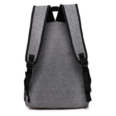 Men Simple Solid Color Canvas Backpack with USB PortBackpacks<br>Men Simple Solid Color Canvas Backpack with USB Port<br><br>Features: Wearable<br>Gender: Men<br>Material: Canvas<br>Package Size(L x W x H): 33.00 x 3.00 x 48.00 cm / 12.99 x 1.18 x 18.9 inches<br>Package weight: 0.6100 kg<br>Packing List: 1 x Backpack<br>Product weight: 0.5400 kg<br>Style: Fashion, Casual<br>Type: Backpacks