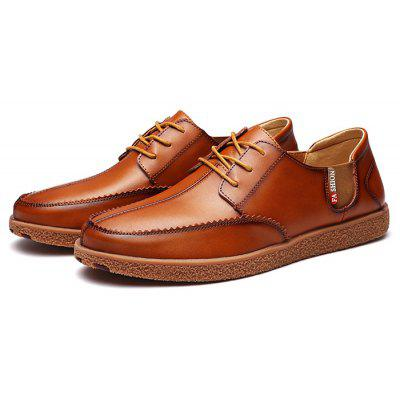 Male Trendy British Soft Business Casual Oxford Shoes