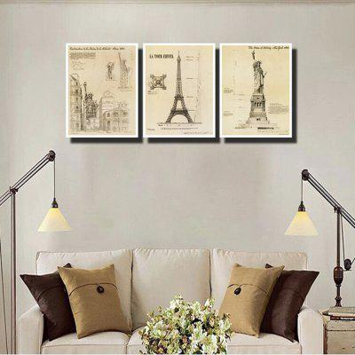 Colourful Building Mark Wall Decor Print for Home Decoration