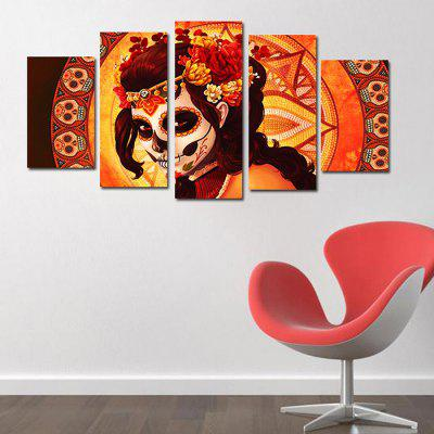 Female Ghost Warrior Home Decoration Canvas Painting 5PCS