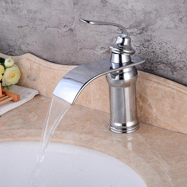 LING HAO HL - 152 Chrome Waterfall Bathroom Sink Faucet