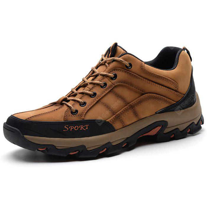 Male Plus Size Outdoor Genuine Leather Athletic Shoes