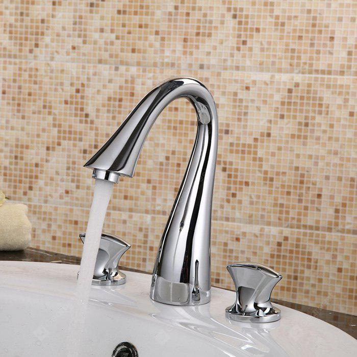 Contemporary Single Handle One Hole Bathroom Sink Faucet