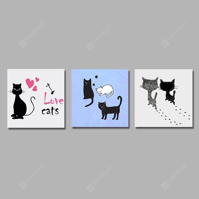 Colourful Love Cats Wall Decor Print for Home Decoration