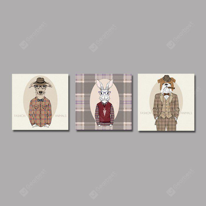 Colourful Cool Style Animals Wall Decor Print