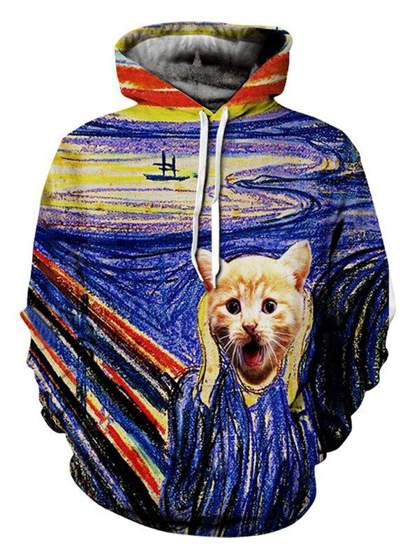 3D Abstract Pattern Printing Comfortable Fashion Male Hoodie