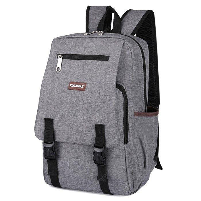 GRAY Multifunctional Classic Style Leisure Backpack Schoolbag