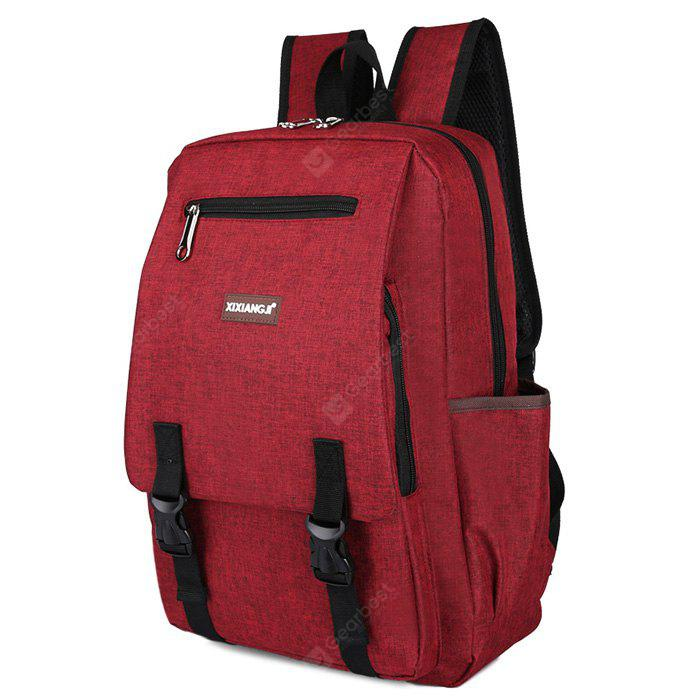 RED Multifunctional Classic Style Leisure Backpack Schoolbag