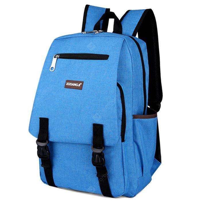 BLUE Multifunctional Classic Style Leisure Backpack Schoolbag