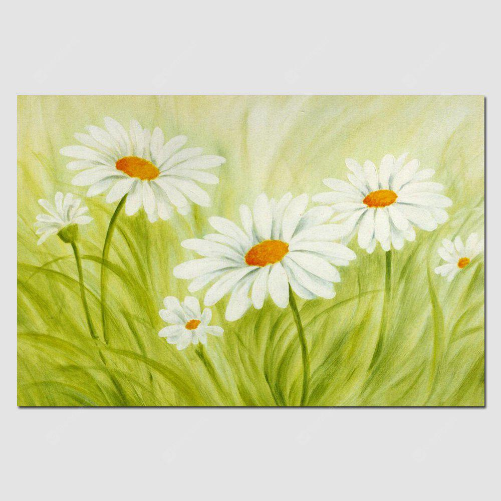 HuaTuo White Flowers Grass Hand Painted Oil Painting