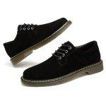Vintage Casual Suede Oxford Shoes for Men - BLACK