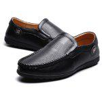 Male Soft Manual Slip On Casual Doug Oxford Shoes - BLACK