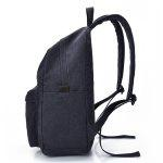 Men Leisure Durable Canvas Backpack with USB Port - DEEP BLUE