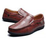 Masculin Soft Slip manual pe pantofi casual Doug Oxford - DARK AUBURN