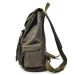 Men Durable Retro Canvas Backpack - KHAKI