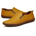 Male Plus Size Soft Flat Casual Loafer Oxford Shoes - YELLOW