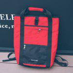 Men Stylish Multifunctional Water-resistant Backpack - RED
