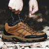 Male Plus Size Outdoor Genuine Leather Athletic Shoes - CITRUS
