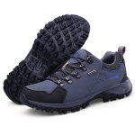 Lace-up Anti-slip Outdoor Hiking / Climbing Shoes for Men - GRAY