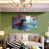 Horse + Knight Print Modern Unframed Canvas Painting 4PCS - COLORMIX