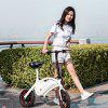 F - wheel DYU D1 12 inch 10Ah Folding Electric Bike ( Deluxe ) - WHITE