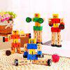 Creative Magic Cube Style Wooden Robot Toy 1PC for Kids - COLORMIX
