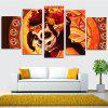 Female Ghost Warrior Home Decoration Canvas Painting 5PCS - COLORFUL