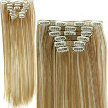 Hairpiece Straight Synthetic Hairpiece Clips Hair Extensions