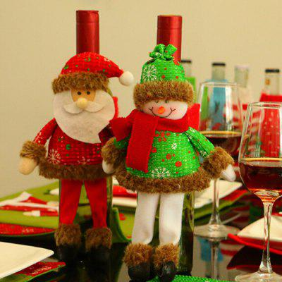 Snowman Santa Claus Ornaments Wine Bottle CoverChristmas Supplies<br>Snowman Santa Claus Ornaments Wine Bottle Cover<br><br>Package Contents: 1 x Wine Bottle Cover<br>Package size (L x W x H): 22.00 x 22.00 x 30.00 cm / 8.66 x 8.66 x 11.81 inches<br>Package weight: 0.0370 kg<br>Product size (L x W x H): 20.00 x 20.00 x 28.00 cm / 7.87 x 7.87 x 11.02 inches<br>Product weight: 0.0350 kg<br>Usage: Christmas