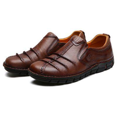 Masculino Especial Trendy Carved Manual Casual Oxford Shoes