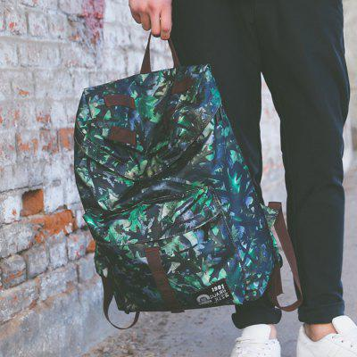 Buy GREEN Men Trendy Printed Nylon Backpack for $17.51 in GearBest store