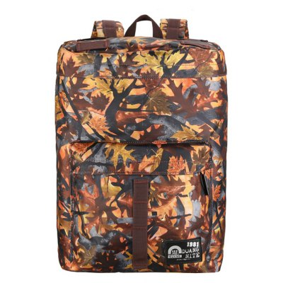 Buy YELLOW Men Trendy Printed Nylon Backpack for $17.51 in GearBest store