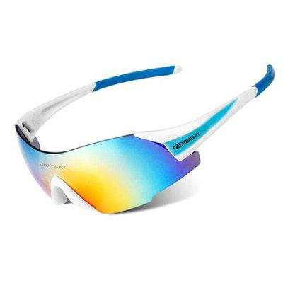 Buy BLUE AND WHITE OBAOLAY SP0889 Outdoor Protective PC Lens Cycling Glasses for $7.70 in GearBest store