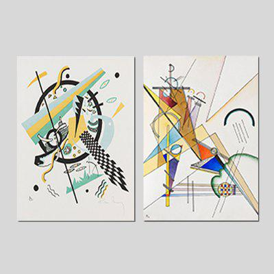 Qiaojiahuayuan Unframed Prints Arte abstracto de pared 2PCS