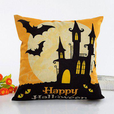 Buy COLORMIX Happy Halloween Bats Throw Pillow Case Square Cushion Cover for $3.54 in GearBest store