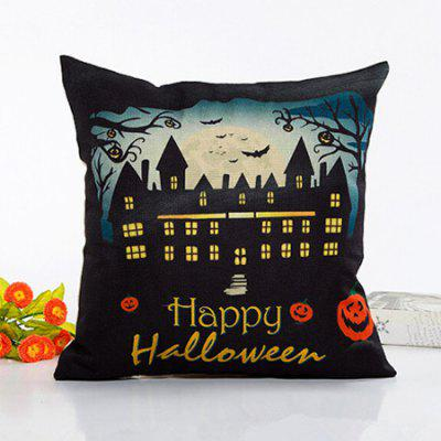 Buy COLORMIX Happy Halloween Devil Witch Throw Pillow Case Cushion Cover for $3.54 in GearBest store