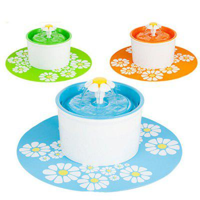 Flower Style Automatic Water Filter Pet Drinking FountainDog Feeding Supplies<br>Flower Style Automatic Water Filter Pet Drinking Fountain<br><br>For: Cats, Dogs<br>Functions: Others<br>Material: Plastic<br>Package Contents: 1 x Pet Water Fountain, 1 x Plug<br>Package size (L x W x H): 22.00 x 19.00 x 12.00 cm / 8.66 x 7.48 x 4.72 inches<br>Package weight: 0.7080 kg<br>Product size (L x W x H): 19.00 x 19.00 x 16.00 cm / 7.48 x 7.48 x 6.3 inches<br>Product weight: 0.7000 kg