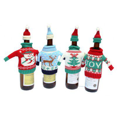 Buy COLORMIX MCYH YH594 Christmas Knitting Wine Bottle Bag 1PC for $6.75 in GearBest store