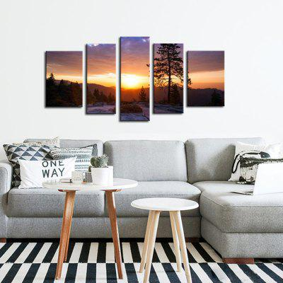 JOY ART Stretched Sunset Landscape Canvas PrintPrints<br>JOY ART Stretched Sunset Landscape Canvas Print<br><br>Brand: JOY ART<br>Craft: Print<br>Form: Five Panels<br>Material: Canvas<br>Package Contents: 5 x Print<br>Package size (L x W x H): 62.00 x 10.00 x 27.00 cm / 24.41 x 3.94 x 10.63 inches<br>Package weight: 1.5000 kg<br>Painting: Include Inner Frame<br>Product weight: 1.2000 kg<br>Shape: Horizontal Panoramic<br>Style: Modern<br>Subjects: Landscape<br>Suitable Space: Bedroom,Dining Room,Hotel,Indoor,Living Room,Office
