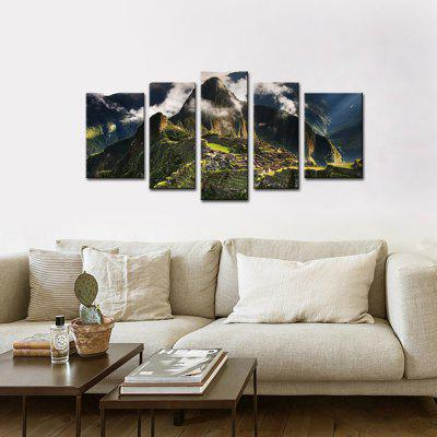 JOY ART Stretched Canvas Print Mountain Range LandscapePrints<br>JOY ART Stretched Canvas Print Mountain Range Landscape<br><br>Brand: JOY ART<br>Craft: Print<br>Form: Five Panels<br>Material: Canvas<br>Package Contents: 5 x Print<br>Package size (L x W x H): 62.00 x 10.00 x 27.00 cm / 24.41 x 3.94 x 10.63 inches<br>Package weight: 1.5000 kg<br>Painting: Include Inner Frame<br>Product weight: 1.2000 kg<br>Shape: Horizontal Panoramic<br>Style: Modern / Contemporary<br>Subjects: Landscape<br>Suitable Space: Bedroom,Dining Room,Hotel,Indoor,Living Room,Office