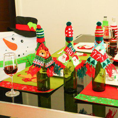 Home Decor Scarf Hat Type Decoration for Wine BottleChristmas Supplies<br>Home Decor Scarf Hat Type Decoration for Wine Bottle<br><br>Package Contents: 1 x Set of Wine Bottle Ornaments<br>Package size (L x W x H): 6.00 x 20.00 x 1.50 cm / 2.36 x 7.87 x 0.59 inches<br>Package weight: 0.0240 kg<br>Product size (L x W x H): 5.00 x 43.00 x 1.00 cm / 1.97 x 16.93 x 0.39 inches<br>Product weight: 0.0220 kg<br>Usage: Christmas