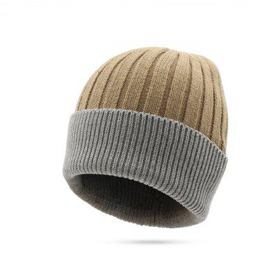 Thick Fleeced Stripped Contracted Knitted Hat for Women