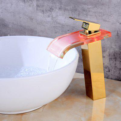 LING HAO HL - 295 LED Waterfall Bathroom Sink Faucet