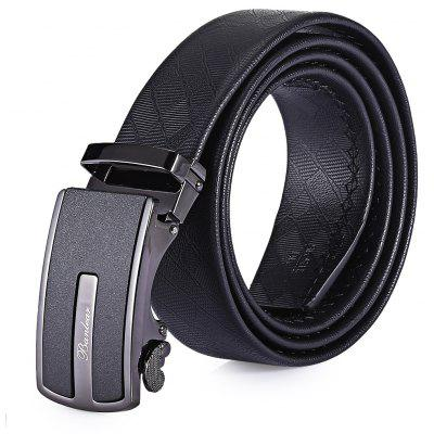 Masculino Trendy Soft Business Alloy Automatic Buckle Trouser Belt